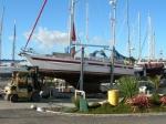 Adriatica dras opp på land