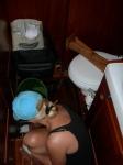 Jeg vasker under dassdørken... herlig.