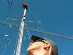 Jeg holder et øye med Johan i masta