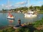 Ankerplassen på Aitutaki