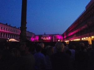 Andrea Bocelli på Markusplassen.