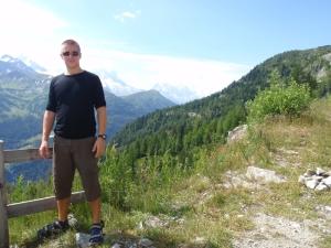 Johan med Mont Blanc i bakgrunnen.