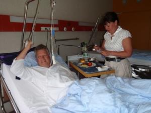 Lunsjdags på sykehuset, dagen derpå.